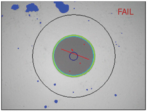 Figure 2. An optimized focus adjustment will ensure that all defects affecting performances are seen.